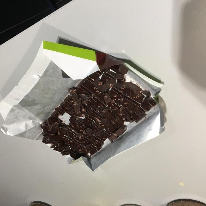 Des gros cubes de chocolat !